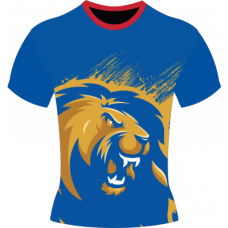 Karachi Kings Blue Cotton Round Neck T-shirt